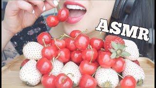 ASMR JAPANESE FRUITS (White Strawberry + Hand Picked Cherry) | SAS-ASMR