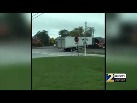INSANE VIDEO: Train plows through straight through semi