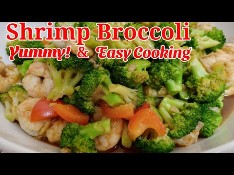 Shrimp Broccoli with Garlic Sauce / Tasty and Easy Cooking Recipe / WELOS TV