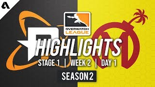 Philadelphia Fusion vs Florida Mayhem | Overwatch League S2 Highlights - Stage 1 Week 2 Day 1