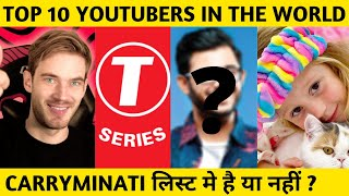Top 10 Youtubers In The World 2020 | Most Subscribed Channel in The World