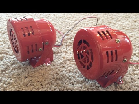 Review of the 12V Red Siren Horn (General Air Raid Siren)