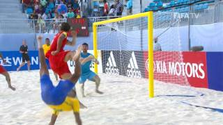 HIGHLIGHTS  Relive the Tiki Toas opening FIFABeachSoccer WC encounter against Br