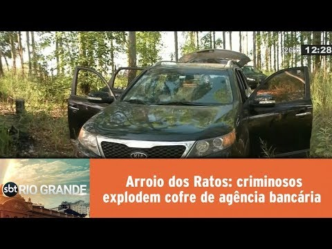 Arroio dos Ratos: criminosos explodem cofre de agência bancária