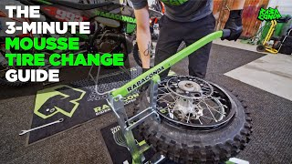 How To Change A Bib Mousse Foam Insert Tube - Full Dirt Bike Tire Change Tutorial By Rabaconda