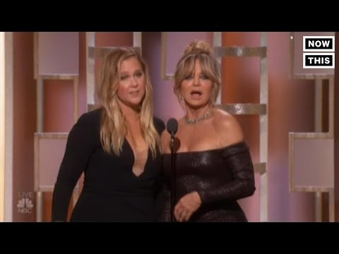 Amy Schumer And Goldie Hawn Were Super Awkward At The Golden Globes