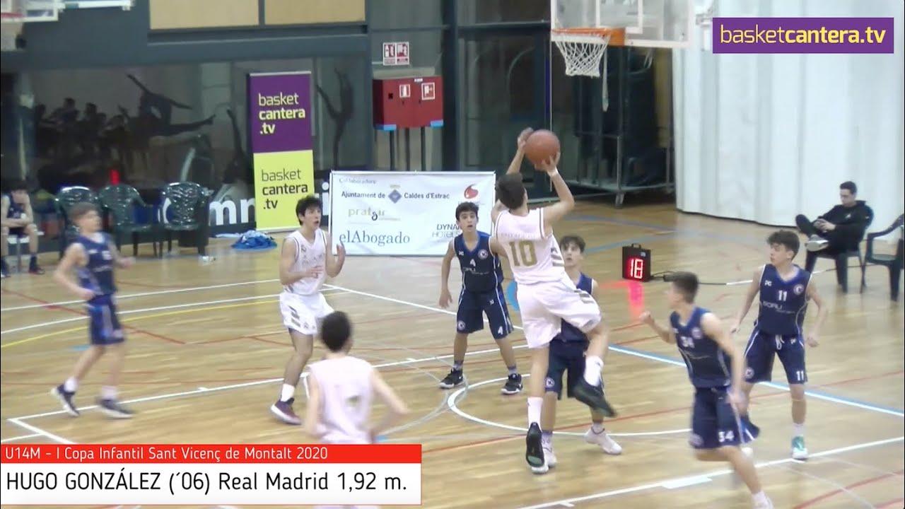 HUGO GONZÁLEZ (´06) Real Madrid 1,92 m. Copa Infantil Sant Vicenç de Montalt (BasketCantera.TV)