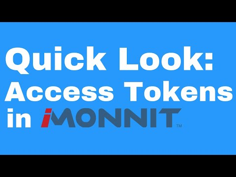 access tokens in iMonnit