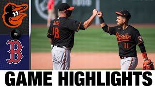 Orioles Score Five Early Runs In 7-2 Win | Orioles-Red Sox Game Highlights 7/25/20