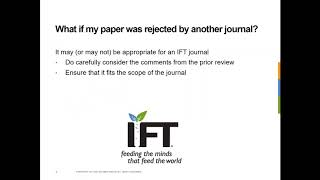 Webinar: Publishing in IFT's Scientific Journals: From Hypothesis to DOI (English Version)