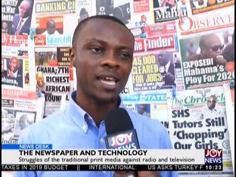 The Newspaper And Technology - News Desk on JoyNews (18-10-18)