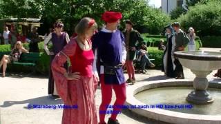 preview picture of video 'Schlossfest zu Starnberg - Mittelalterliche Tänze mit Amici Saltantes - 100 Jahre Stadt Starnberg'