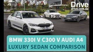 Luxury sedan comparison: BMW 330i v Mercedes-Benz C300 v Audi A4 | Drive.com.au