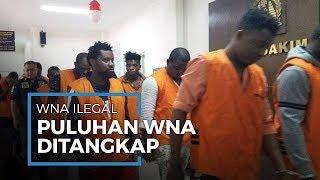 WNA Berkulit Hitam Berjumlah 25 Orang Ditangkap dan Dibawa ke Kantor Imigrasi Tangerang