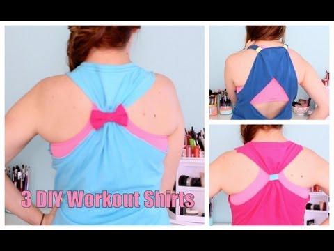 DIY No Sew Workout Tops