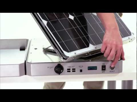 Solar-Powered Sun-Tracking Briefcase Battery Guarantees Perpetual Power