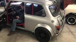 Classic Mini Super Cooper Type S 300hp Vtec V6 acceleration and exhaust test