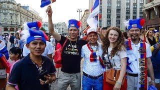 Народное празднование победы над Испанией