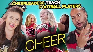 Cheerleaders & Football Players React To Netflix's Cheer & Try Iconic Cheer Routines