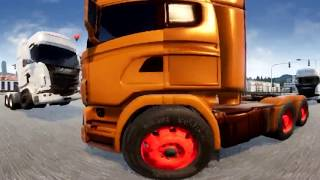 ETS 2 - Crash - VIDEO FOR 360° Gear VR- Virtual Reality Headsets  - Oculus, Cardboard 3d