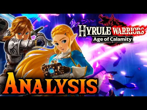 Hyrule Warriors: Age of Calamity Trailer Analysis! Second by Second Breath of the Wild Prequel!
