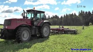 Борона является полуприцепным орудием, без рабочего места оператора, агрегатируется с с/х тракторами мощностью не менее 240 л.с. для колесных и не менее 210 л.с. для гусеничных тракторов.
