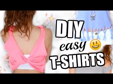 3 einfache DIY IDEEN für deine alten T-SHIRTS! ♡ BarbieLovesLipsticks