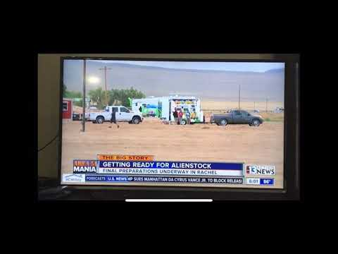 Guy Naruto Runs Past Area 51 News Anchor