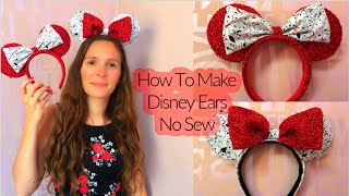 HOW TO MAKE DISNEY EARS - Templates Included (no Sew)
