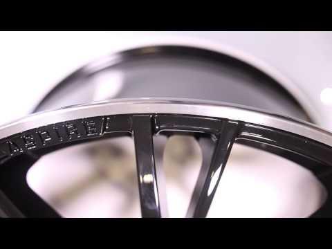 "ASPIRE 22"" Gloss Black wheel with polished edge"