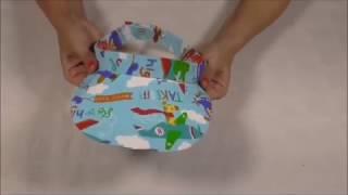 Visera de tela y cartón para niños MUY Fácil