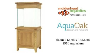 Aqua Oak 'Large Cube' Aquarium and Cabinet (AQ65C)
