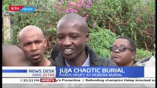 Aggrieved parties trade bitter words in chaotic Burial in Juja