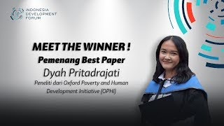IDF 2019 Meet The Winner - Pemenang Best Paper Dyah Pritadrajati