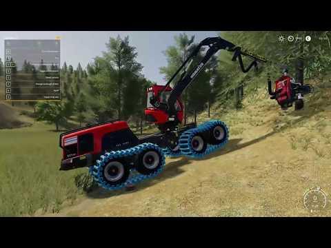 FS19 - Tester Kumatsu forestry maskiner - Black Mountain Montana - Dansk Ep 2