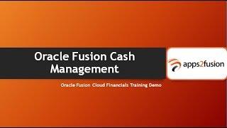 Oracle Fusion Cloud Cash Management