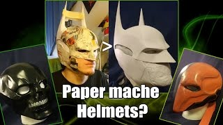 Cheap amazing Helmet Tutorial: How to properly use paper mache!