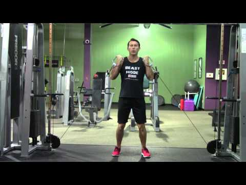 Low Cable Curl - HASfit Biceps Exercise Demonstration - Cable Curl - Bicep Exercises - Bicep Curl