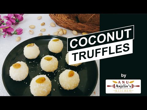Coconut Truffles Recipe | Instant 3 ingredients Recipe | No cooking Recipe | Fireless Cooking Recipe