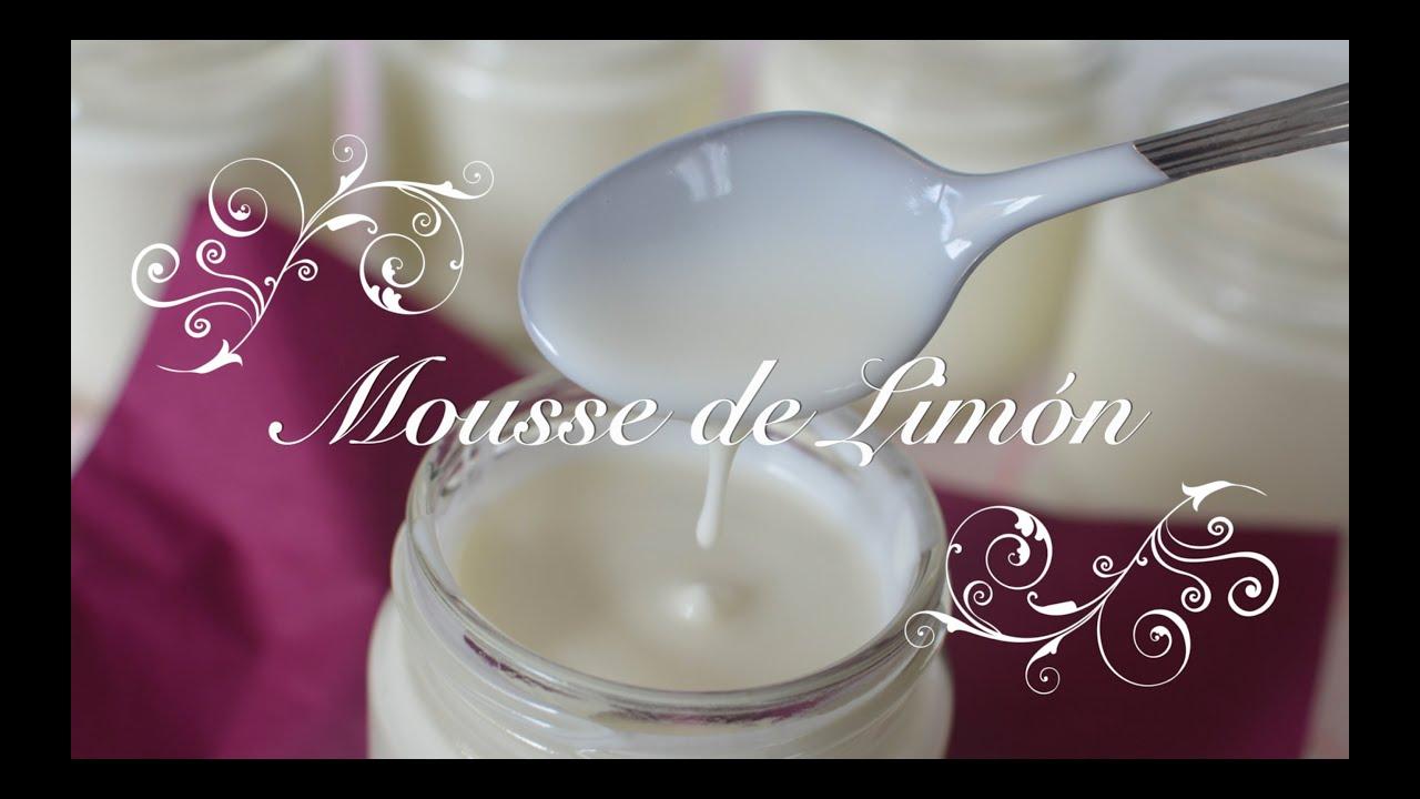 Mousse de Limón un postre rapido de preparar | Como hacer Mousse de Limón | Recetas de Postres