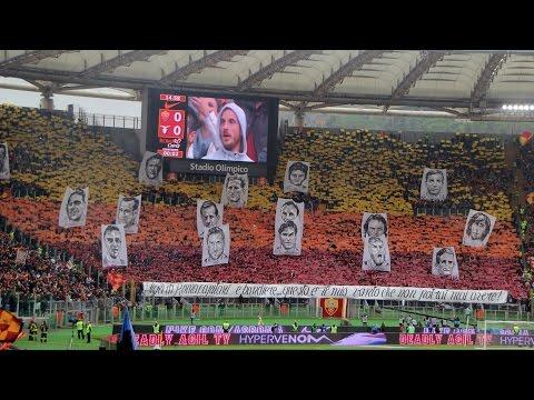 AS Roma - SS Lazio 11.01.2015 Tifo