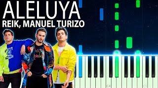 Reik, Manuel Turizo   Aleluya   Piano Tutorial Cover + Letra Karaoke V2
