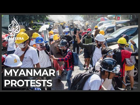 'Barricaded' Myanmar protesters leave after tense standoff