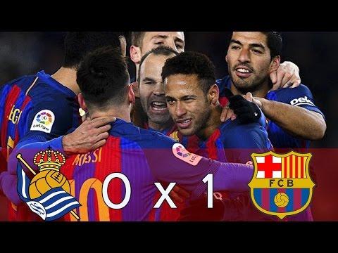 FC Barcelona vs Real Sociedad 1-0 /Melhores momentos /highlights /Goal / 19/01/2017 Extended Match