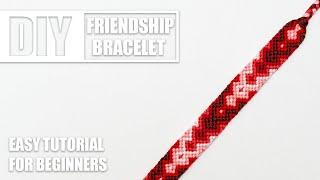Zigzag Chevron Diamond Colorful Macrame Friendship Bracelets | Easy Tutorial For Beginners