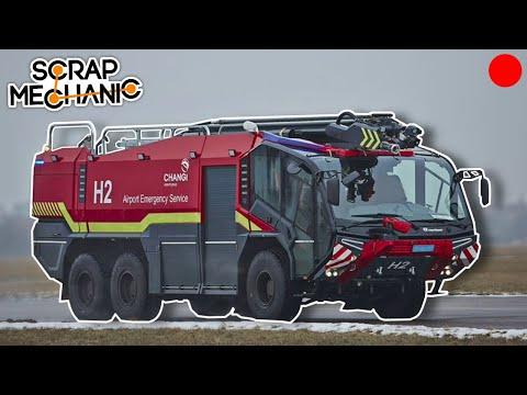 Building an Airport Crash Tender Firetruck! - Scrap Mechanic Live Stream