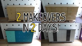 2 Dresser Makeovers In 2 Days! - Before & After