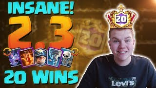 INSANE DECK! 20-0 2.3 Miner Cycle Deck Clash Royale League Challenge Gameplay!