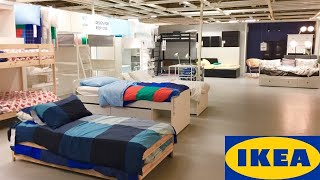 IKEA DAYBEDS LOFT BEDS BUNK BED DRESSERS BEDROOM FURNITURE SHOP WITH ME SHOPPING STORE WALK THROUGH