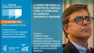 Youtube: Digital Talk | Il mondo dei media al cospetto del digitale: come la tecnologia ha cambiato contenuti e fruizione | Forum Comunicazione 2021